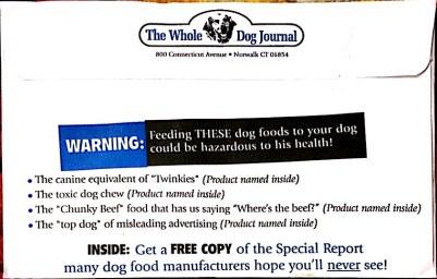 Dog Food Blacklist Envelope